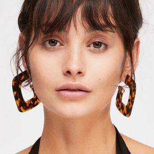 Jewelry - NEW Statement Earrings Leopard Tiger's Eye Acrylic